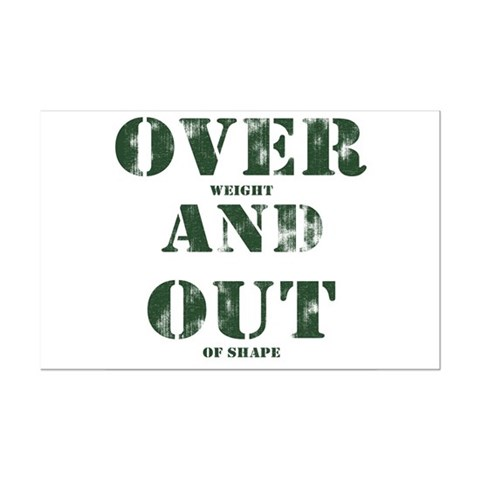 Over & Out Mini Poster Print