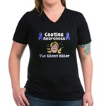 Cooties Awareness Women's V-Neck Dark T-Shirt