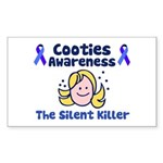 Cooties Awareness Sticker (Rectangle)