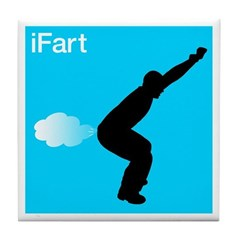 iFart Funny Spoof Tile Coaster