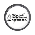 We're Here We're Sheared Get Used To It! Wall Clock