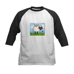 Spring Sheep Kids Baseball Jersey