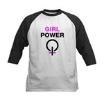 Girl Power Symbol Kids Baseball Jersey