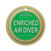Certified Nitrox Diver Ornament (Round)