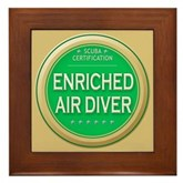 Certified Nitrox Diver Framed Tile