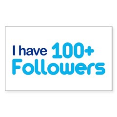 I Have 100+ Followers Sticker (Rectangle)