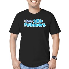 I Have 100+ Followers Men's Fitted T-Shirt (dark)