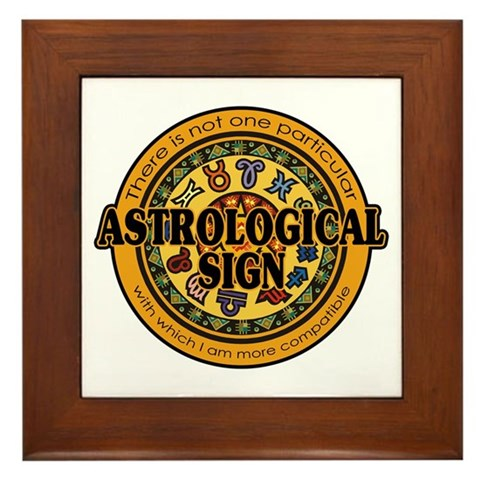 Astrological Sign Framed Tile