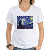 Starry Dove Women's V-Neck T-Shirt