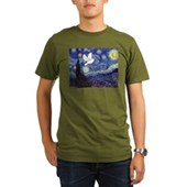 Starry Dove Organic Men's T-Shirt (dark)