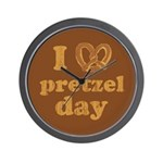 I Pretzel Pretzel Day Wall Clock