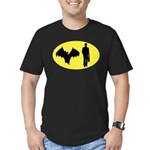 Bat Man Men's Fitted T-Shirt (dark)