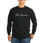 Mrs. Sparrow Long Sleeve Dark T-Shirt