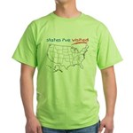 States I've Been To Green T-Shirt