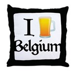 I Love Belgium (Beer) Throw Pillow