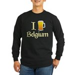 I Love Belgium (Beer) Long Sleeve Dark T-Shirt