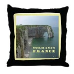 Normandy, France Throw Pillow