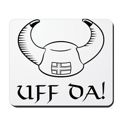 Uff Da! Viking Hat (B&W) Mousepad