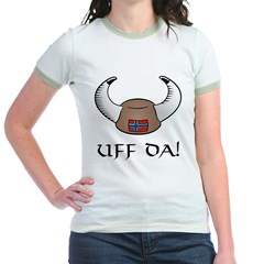 Uff Da! Viking Hat (color) Jr. Ringer T-Shirt