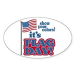 Flag Day Sticker (Oval)