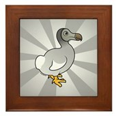 Birdorable Dodo Framed Tile
