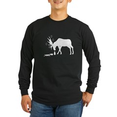Long Sleeve Dark Drunk Moose White from the Metal From Finland Shop