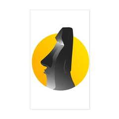 Easter Island Statue Sticker (Rectangle)