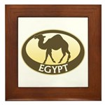 Egyptian Camel Framed Tile