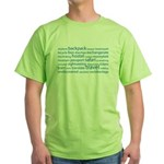 Travel Tag Cloud Green T-Shirt