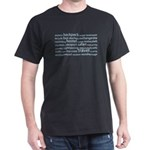 Travel Tag Cloud Dark T-Shirt