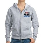 Smoke Free Europe Women's Zip Hoodie