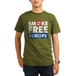 Smoke Free Europe Organic Men's T-Shirt (dark)