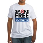 Smoke Free Europe Fitted T-Shirt