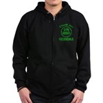25% Irish - Thank You Grandma Zip Hoodie (dark)
