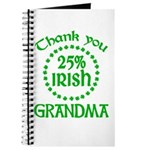 25% Irish - Thank You Grandma Journal