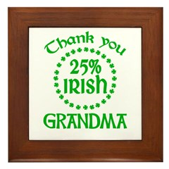25% Irish - Thank You Grandma Framed Tile