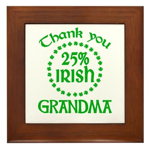 25% Irish - Grandma Framed Tile