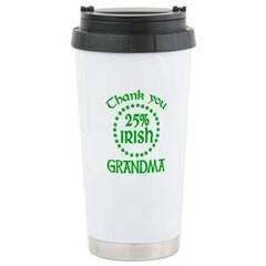 25% Irish - Thank You Grandma Ceramic Travel Mug