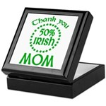 50% Irish - Thank You Mom Keepsake Box