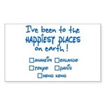 Happiest Places on Earth Sticker (Rectangle)