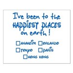 Happiest Places on Earth Small Poster