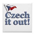 Czech It Out Tile Coaster