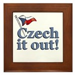 Czech It Out Framed Tile