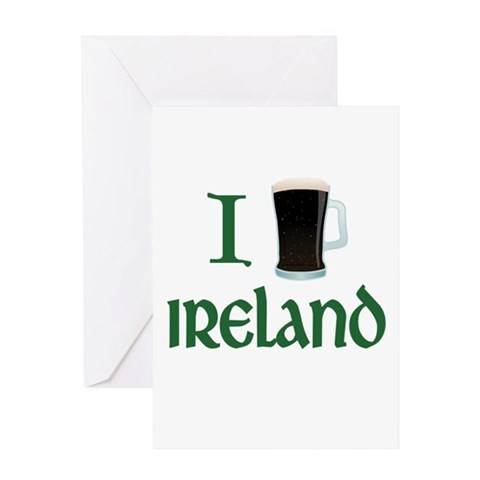 I Love Ireland (beer) Greeting Card