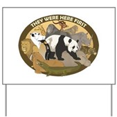 A great design to show your support of all wildlife - the animals were here first, after all. A group of beautiful wild animals make up this pro-wildlife design. Perfect for all animal lovers!
