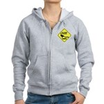 Talking Ducks Crossing Women's Zip Hoodie