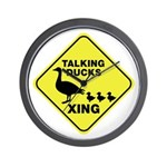 Talking Ducks Crossing Wall Clock