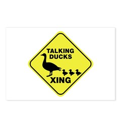 Talking Ducks Crossing Postcards (Package of 8)