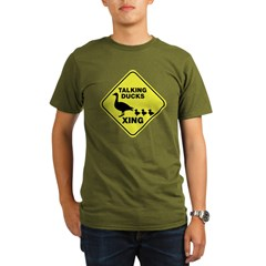 Talking Ducks Crossing Organic Men's T-Shirt (dark)