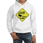 Talking Ducks Crossing Hooded Sweatshirt